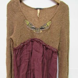 Free People Long Top Sz Medium